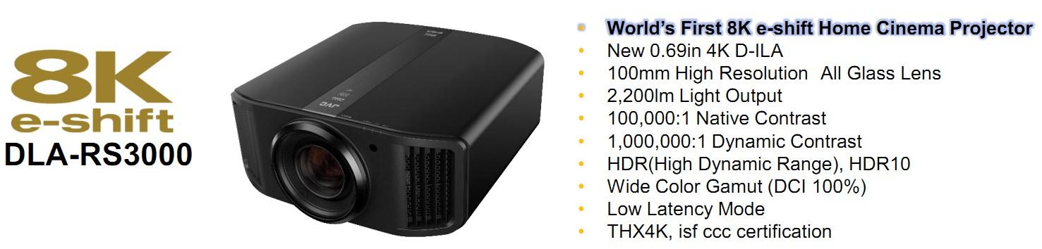 Проектор 8k JVC DLA-RS3000